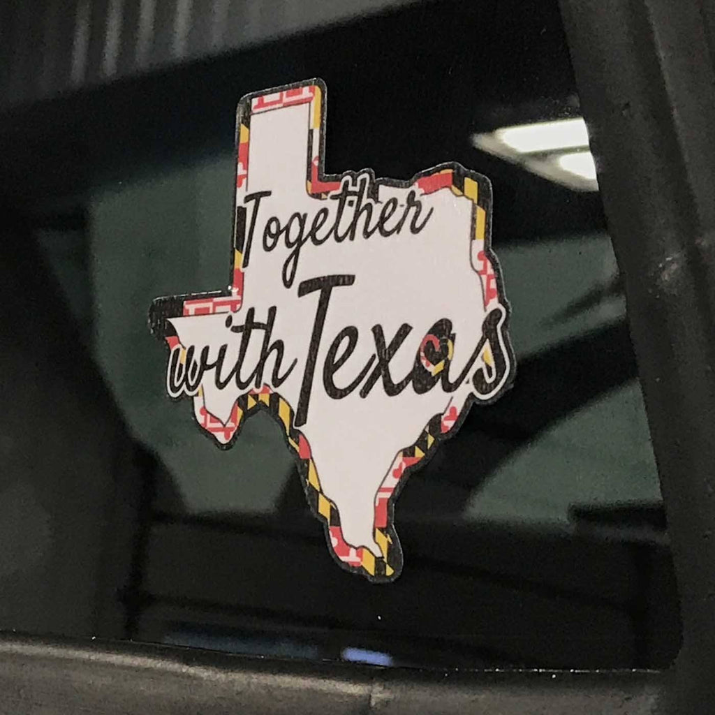 Together with Texas w/ Maryland Flag / Sticker