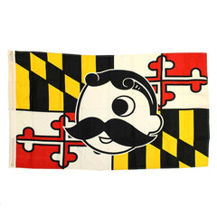 Maryland Flag with Natty Boh Logo *Horizontal* / Flag