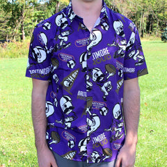 Natty Boh Football (Purple) / Hawaiian Shirt