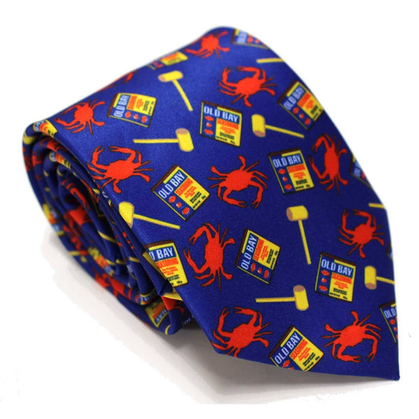 Crab, Mallet and Old Bay (Royal) / Tie