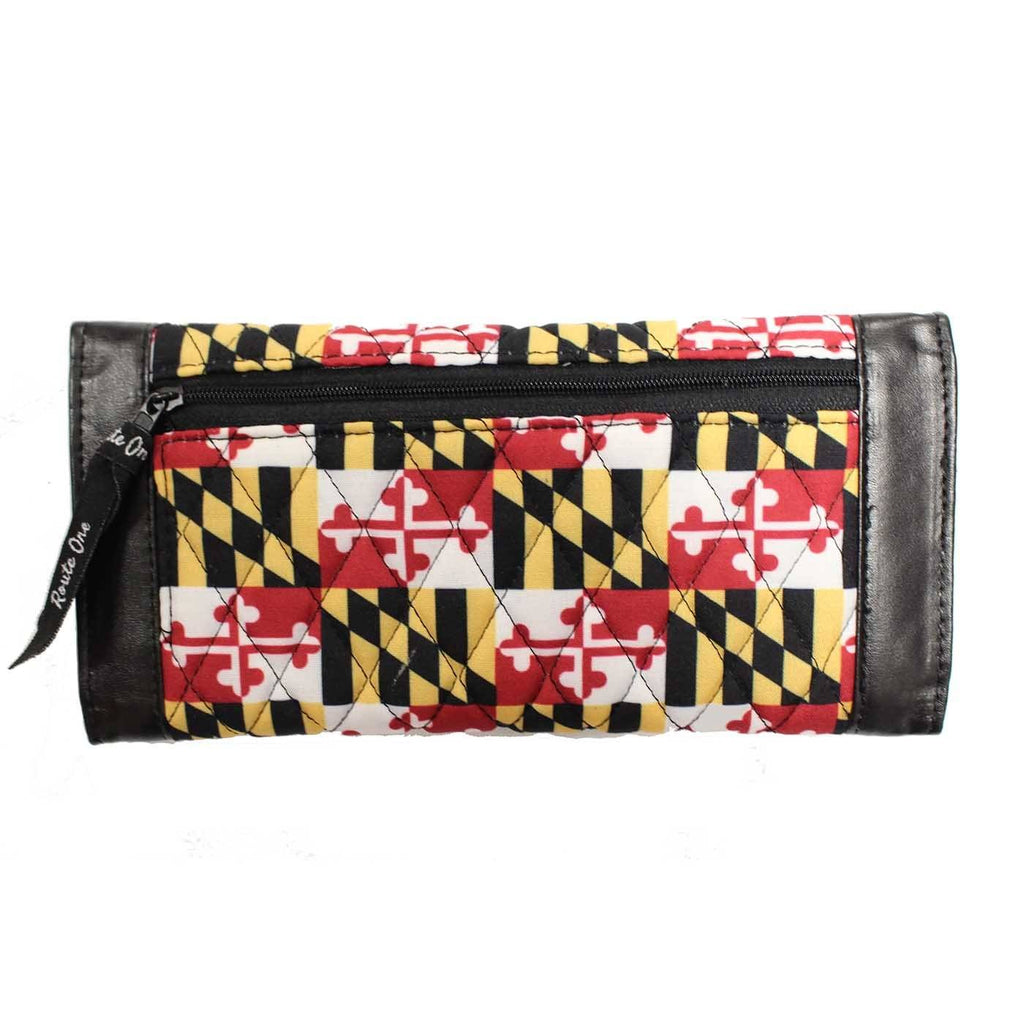 Quilted Maryland Flag / Trifold Wallet