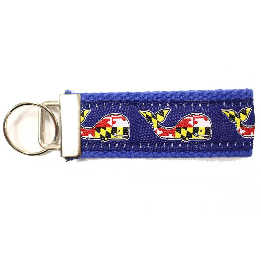 Maryland Flag Whale (Navy) / Key Chain