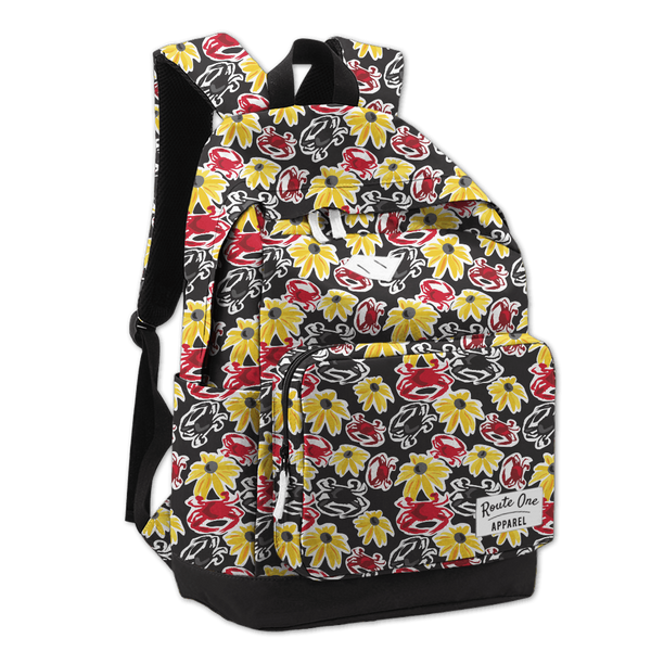 Black Pennington Crab & Black Eyed Susan / Book Bag