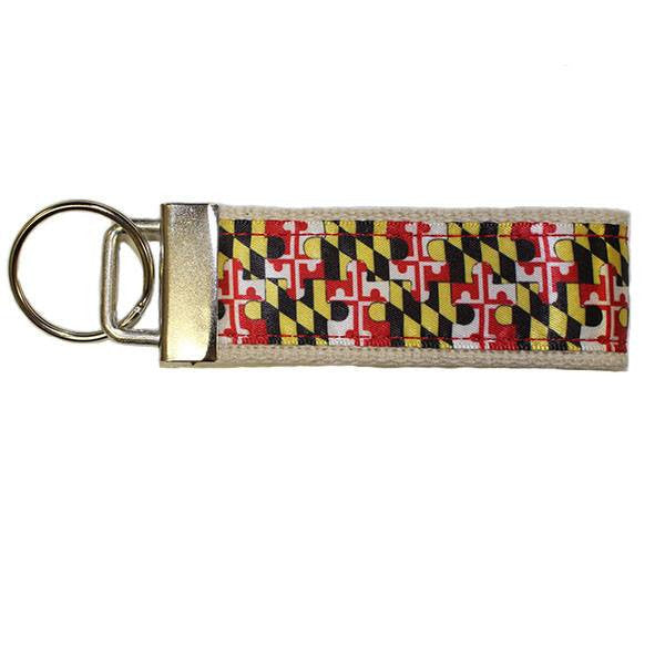 Maryland Flag Puzzle Piece / Key Chain