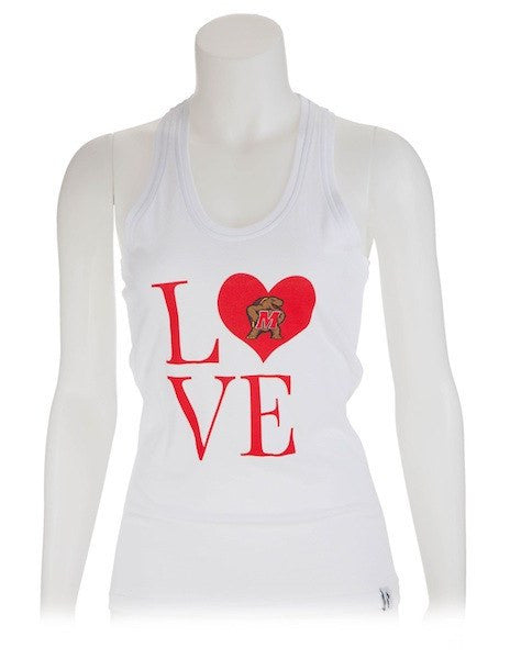 Maryland Terrapins Ladies LOVE (White) / Tank