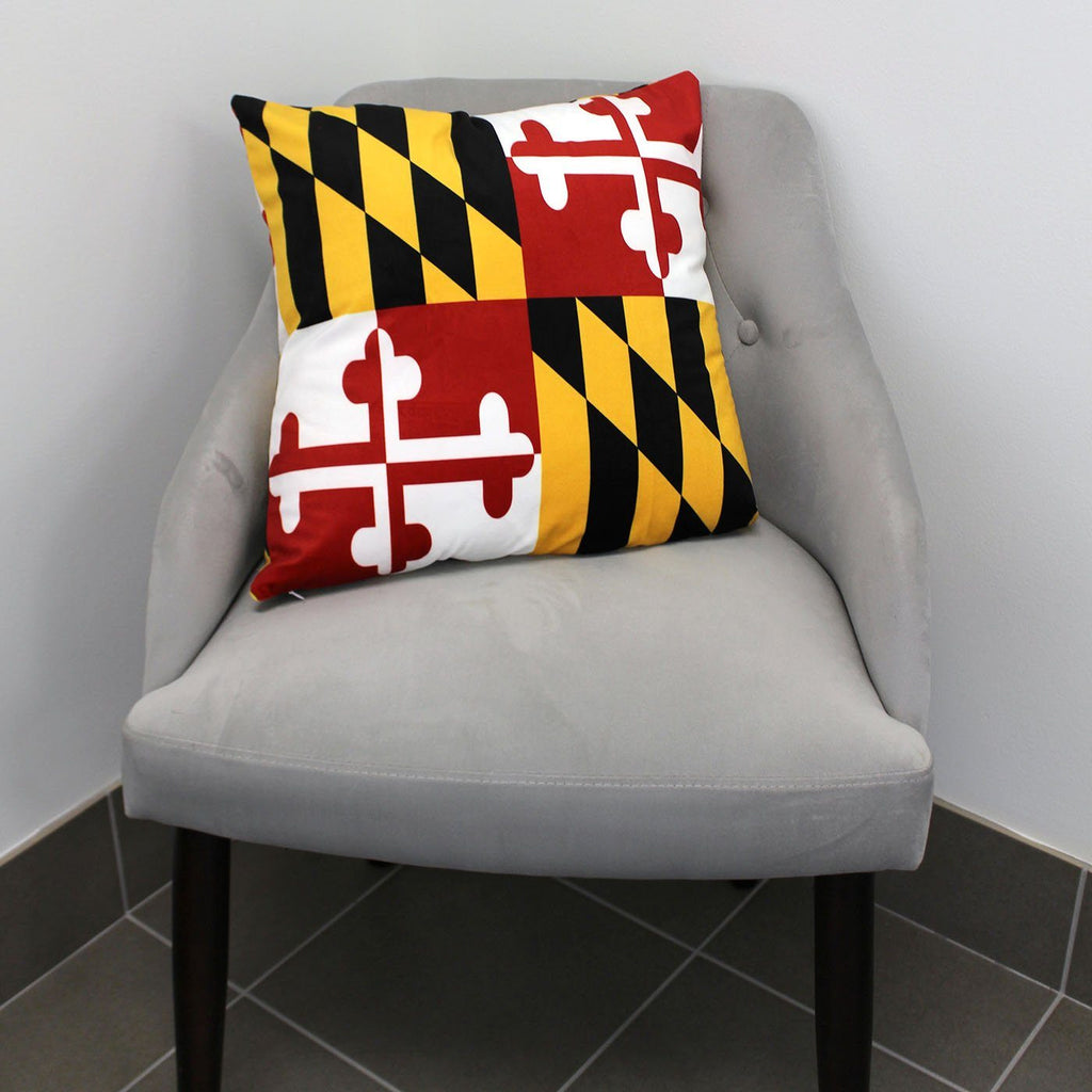 Maryland Flag Throw Pillow Route One Apparel