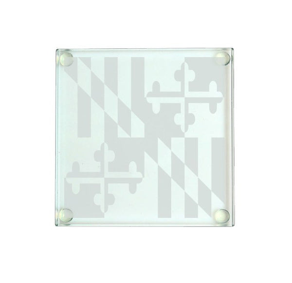 Maryland Flag / Glass Coaster