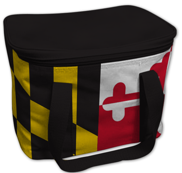 Maryland Flag (Black) / Lunch Box