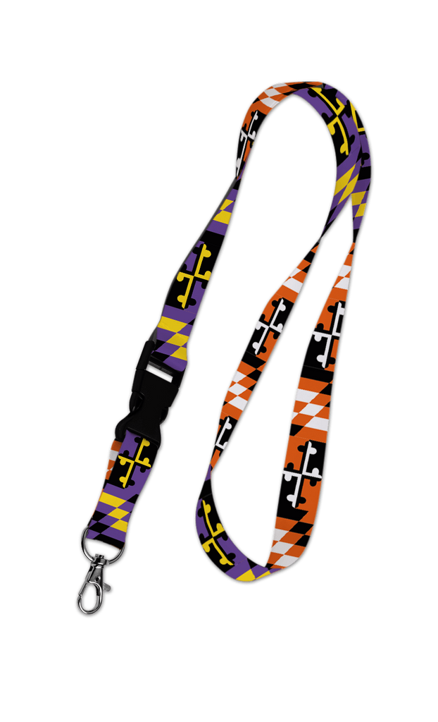 Baltimore Maryland Flag (Purple & Orange) / Lanyard - Route One Apparel