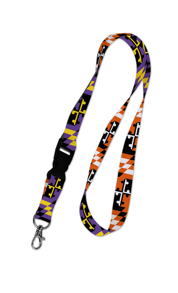 Baltimore Maryland Flag (Purple & Orange) / Lanyard