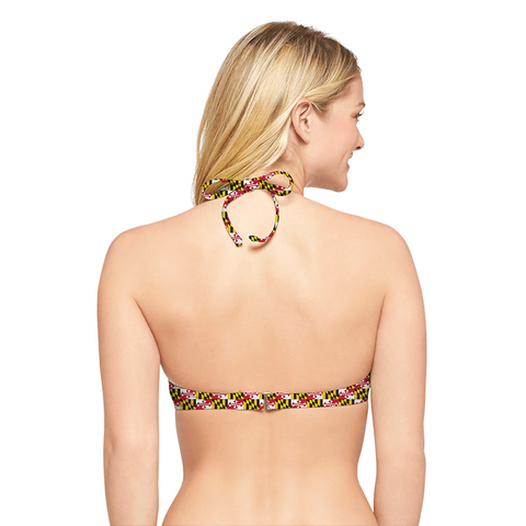 Maryland Flag Push Up (Black) / Bikini Top