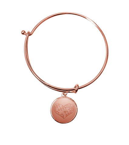 Maryland in my Heart (Rose Gold) / Adjustable Bangle Bracelet