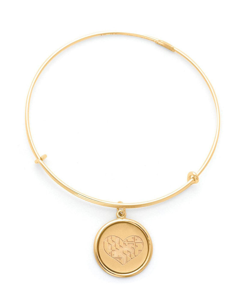 Maryland in my Heart (Gold) / Adjustable Bangle Bracelet
