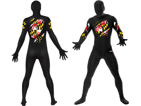 Ripped Up Maryland Flag / Body Suit