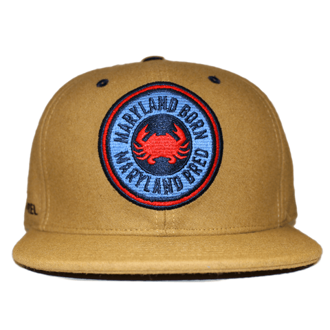 Maryland Born Maryland Bred (Tan) / Wool Snapback Hat