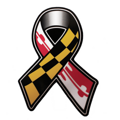 Maryland Flag Ribbon / Sticker