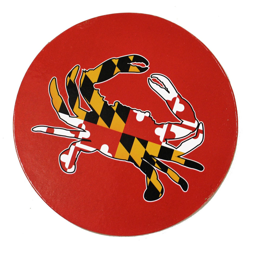 Maryland Full Flag Crab (Red) / Cork Coaster
