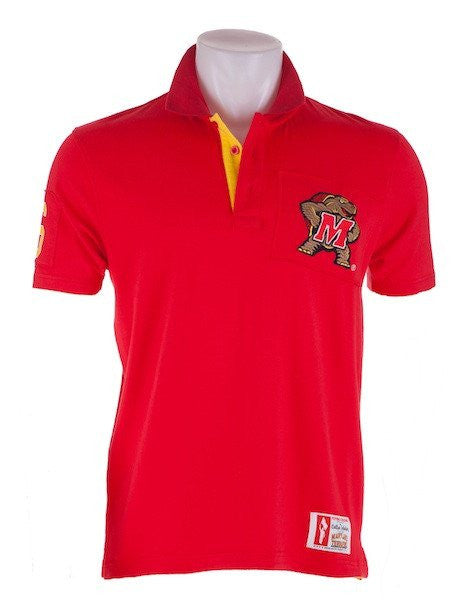Maryland Terrapins Mens Collar Scholar (Red) / Polo