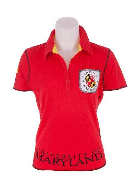 Maryland Terrapins Ladies Legacy (Red) / Polo