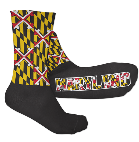Maryland Crossland Over Calvert (Black) / Crew Socks