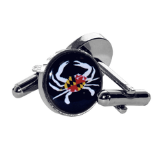 Maryland Flag Crab (Black) / Cufflinks