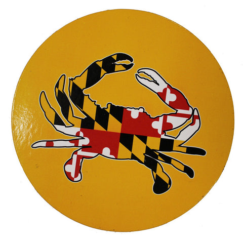 Maryland Full Flag Crab (Yellow) / Cork Coaster