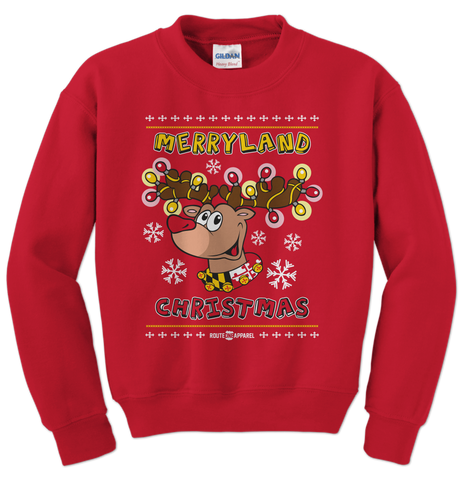 Merryland Christmas (Red) / Crew Sweatshirt