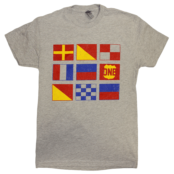 Boat Flag (Heather Grey) / Shirt - Route One Apparel