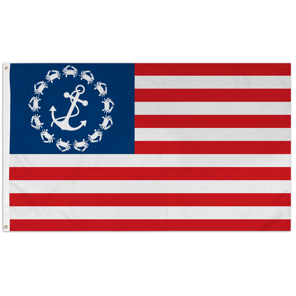 Crab & Anchor American / Flag