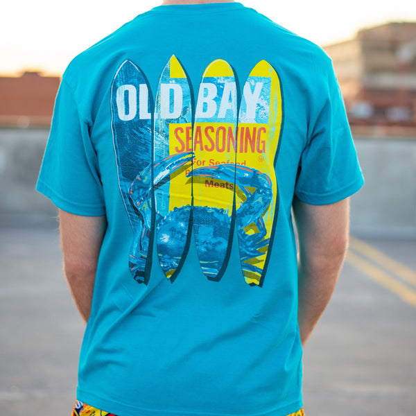 Old Bay and Crab Surfboards (Tropical Blue) / Shirt
