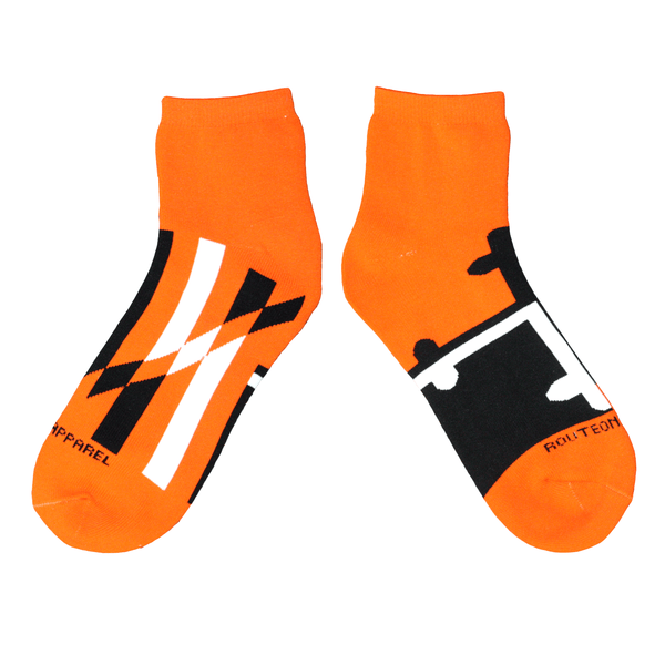 Baltimore Black & Orange Maryland Flag / Ankle Socks - Route One Apparel