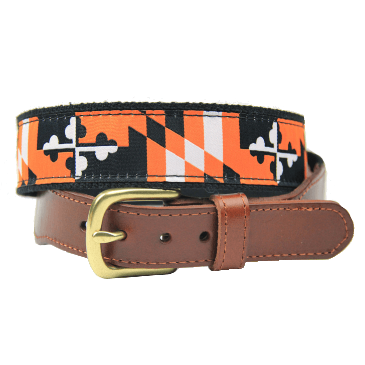 Baltimore Baseball Black & Orange Maryland Flag / Belt - Route One Apparel