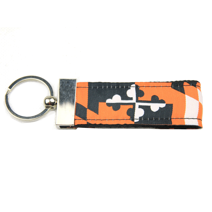 Baltimore Baseball Black & Orange Maryland Flag / Key Chain - Route One Apparel