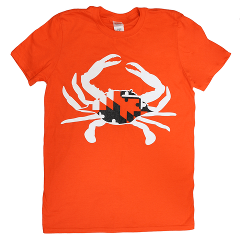 Black & Orange Maryland Crab (Orange) / Shirt - Route One Apparel