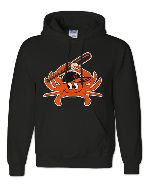 Baltimore Baseball Orange Crab (Black) / Hoodie - Route One Apparel