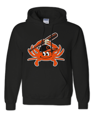 Baseball Orange Crab (Black) / Hoodie - Route One Apparel