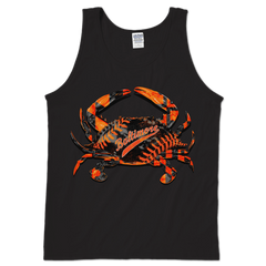 Baseball Home Team Crab *Front Print* (Black) / Tank - Route One Apparel