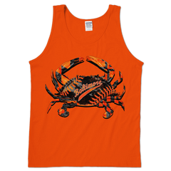 Baseball Home Team Crab *Front Print* (Orange) / Tank - Route One Apparel