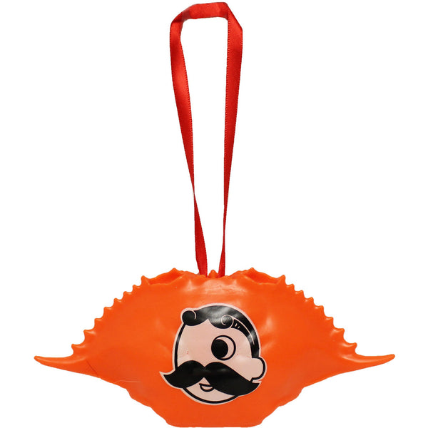 Natty Boh Logo (Neon Orange) / Crab Shell Ornament