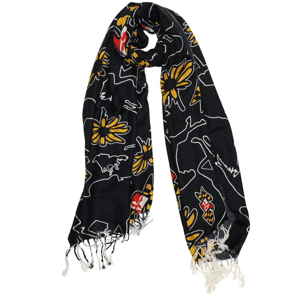Maryland Horse Racing (Black) / Scarf