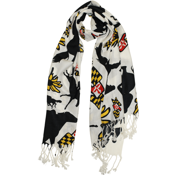 Maryland Horse Racing (White) / Scarf