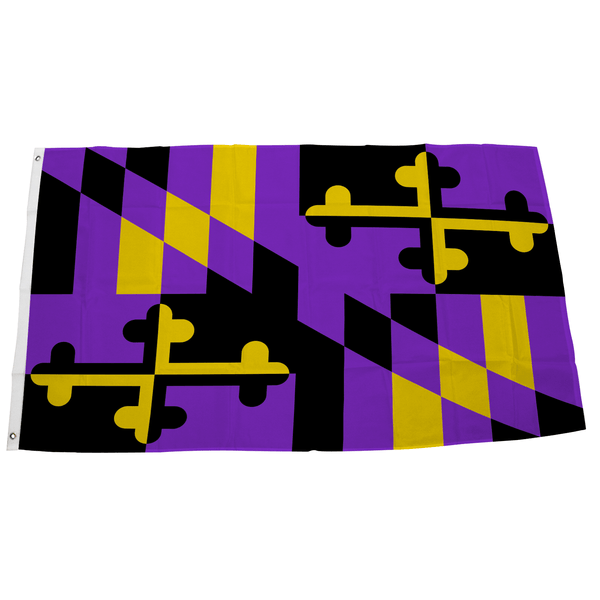 Baltimore Football Purple & Gold Maryland / Flag