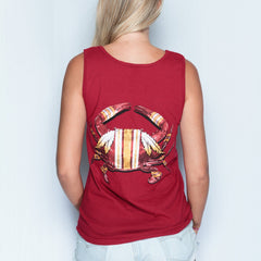 DC Football Home Team Crab *Back Print* (Cardinal) / Tank - Route One Apparel