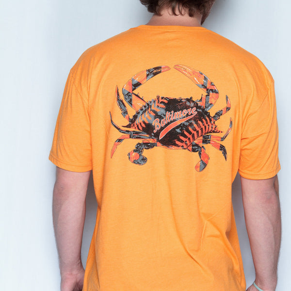 Baseball Home Team Crab *Back Print* (Orange) / Shirt