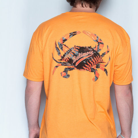 Baseball Home Team Crab *Back Print* (Orange) / Shirt - Route One Apparel