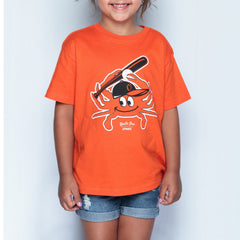 Baseball Orange Crab (Orange) / *Youth* Shirt - Route One Apparel