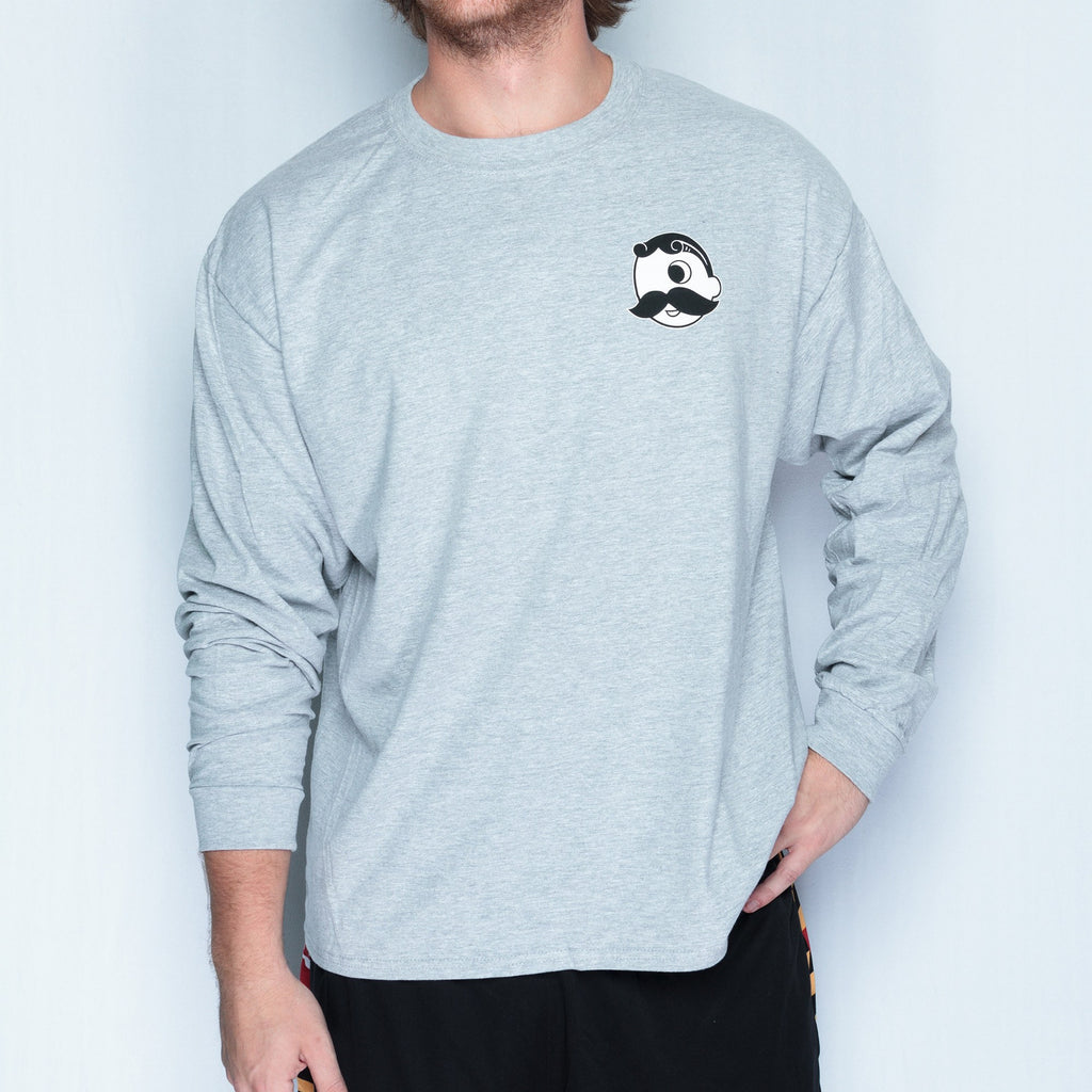 Natty Boh Bottle Cap (Light Steel) / Long Sleeve Shirt