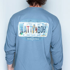 Natty Boh License Plate (Indigo Blue) / Long Sleeve Shirt