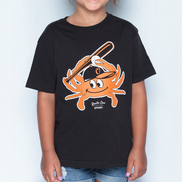 Baseball Orange Crab (Black) / *Youth* Shirt