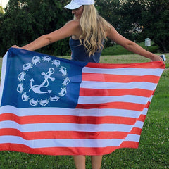 Crab & Anchor American / Flag - Route One Apparel